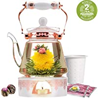Teabloom 6 Piece Buckingham Palace Teapot & Flowering Tea Gift Set