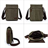 Unisex Multifunctional Canvas Messenger Bag