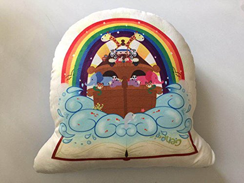 Sacred Heart Toys Play and Pray Buddy Cuddle Noah's Ark Bible Story Pillow