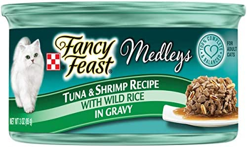 Purina Fancy Feast Elegant Medley Tuna Shrimp Food, 24 By 3 Oz.