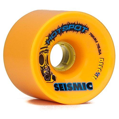 Seismic Hot Spots Longboard Wheels - 76mm 78.5a Mango (Seismic Trucks)