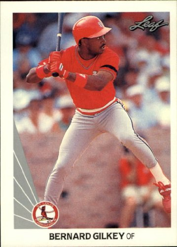 (1990 Leaf Baseball Rookie Card #353 Bernard Gilkey)