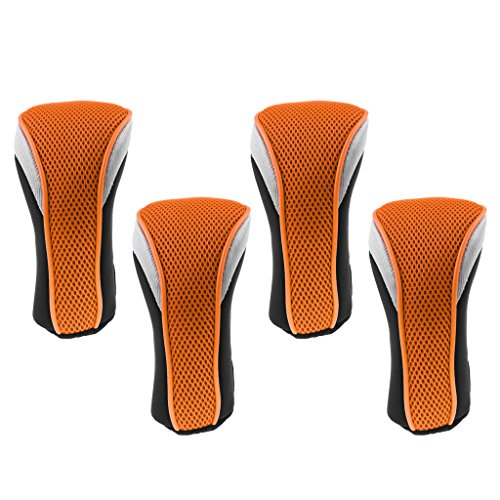 恥ずかしさスイング導体Homyl 交換可能 ナンバータグ付 4ピース ゴルフクラブ ヘッドカバー 全7色