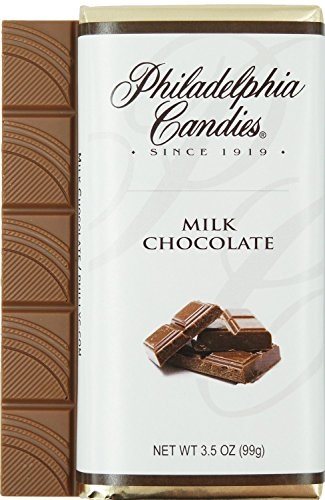 Philadelphia Candies Milk Chocolate Bar, 3.5-Ounce Packages (Pack of 12)