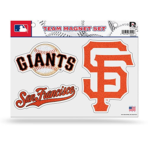- Rico MLB San Francisco Giants Bling Team Magnet Set with Team Logos, 8.5 x 11-Inch, Clear