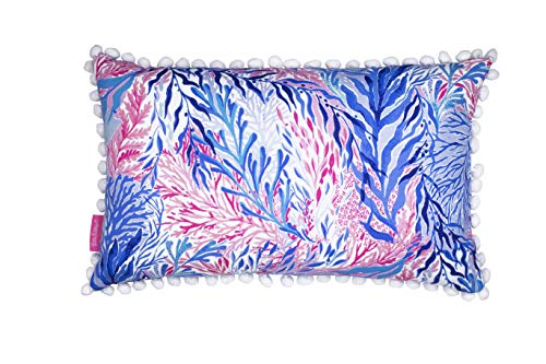 Lilly Pillow - Lilly Pulitzer Indoor/Outdoor Medium Decorative Pillow, Kaleidoscope Coral