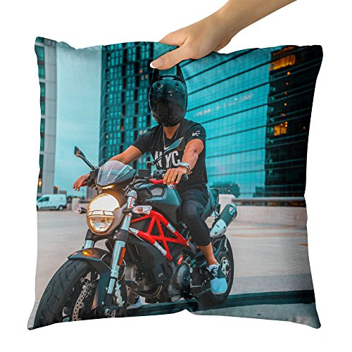 Westlake Art Decorative Throw Pillow - Motorbike Batman - Photography Home Decor Living Room - 18x18in (a13z)