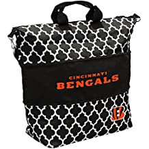 Logo Brands NFL Patterned Expandable Zippered Tote with Detachable Cross-Body Strap