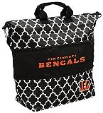 Logo Brands NFL Cincinnati Bengals Quatrefoil Expandable Tote, Undefined-See Creative, One Size
