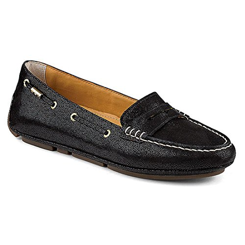 Sperry Top-Sider Gold Cup Penny Driver Womens Black Leather Loafer Flats Shoes 7.5 ()