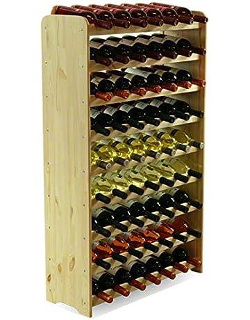 MODO24 Estantería de Botellas de Vino Armario Soporte botellero para 63 Botellas de Vino Nuevo.