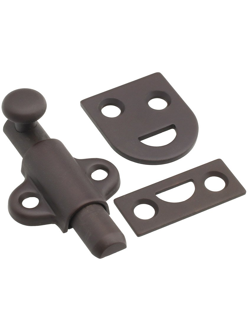 2'' Long Surface Bolt with 2 Strikes in Oil Rubbed Bronze
