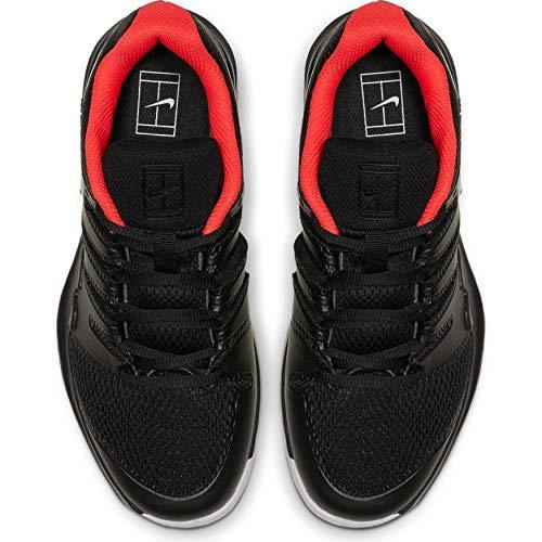 Nike Junior's Vapor X (6 US, Black/White/Bright Crimson)