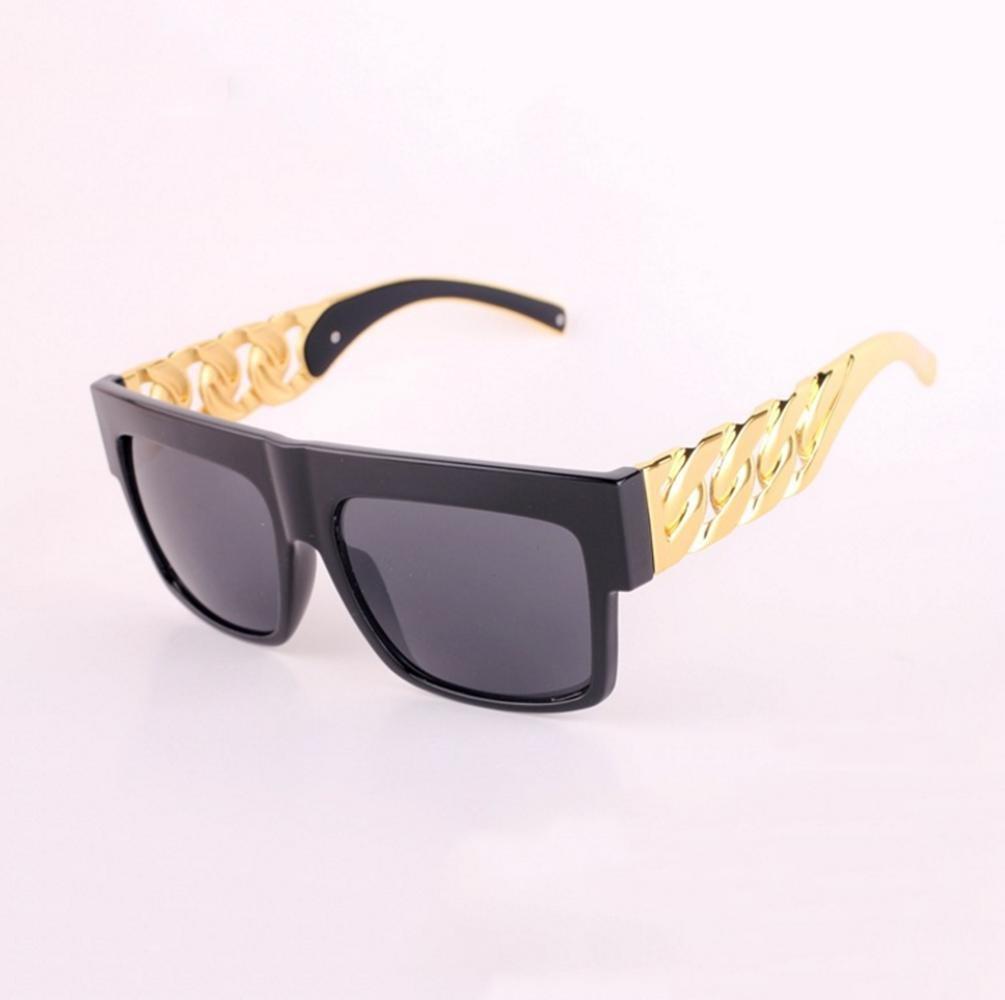 Z& YQ occhiali da sole in metallo pilota di moda sormontato braccio catena , b Z&YQ sports