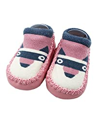 Kehen Infant Baby Boy Girl Animal Moccasins Non-Skid Indoor Slipper Toddlers Winter Warm Shoes Home Socks