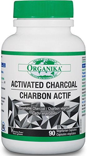 Organika Activated Charcoal, 90 Capsules