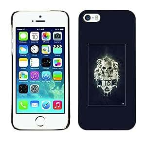 Caucho caso de Shell duro de la cubierta de accesorios de protección BY RAYDREAMMM - iPhone 5 / 5S - Pesadilla Skulls