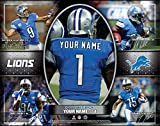 Photo File Action Collage Detroit Lions Unframed Poster 12x16 Inches