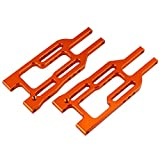 arm bullet - Yiguo 2pcs BMT0004 Aluminum Front Suspension Arm Orange for HPI 1/10 BULLET3.0 STMT/WR8 RC Truck Upgrade Parts