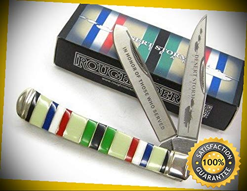 - Desert Storm Veteran Commemorative Trapper Pocket Sharp Knife 1403 perfect for outdoor camping hunting
