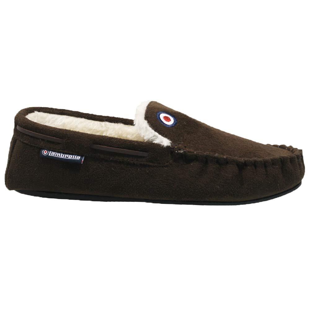 Mens Lambretta Warm Memory Foam Winter Flat Slippers Slip On Mules Shoes Sizes