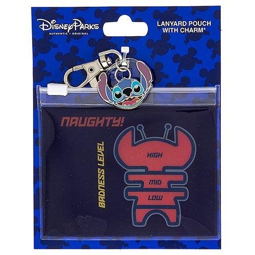 Disney Pin Accessory - Lanyard Pouch - Stitch - Naughty
