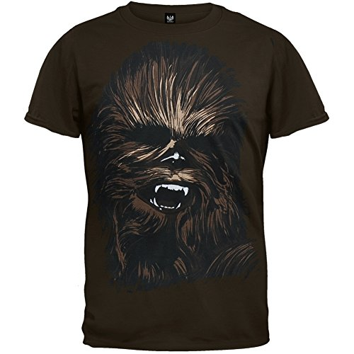 Star Wars - Chewy Face T-Shirt Large Black (Darth Vaders Face)
