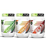 Creatine unflavoured 300grm + Glutamine 300gm Unflav + BCAA 200Gm Unf...