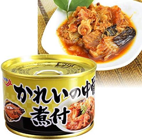 国華園 かれいの中骨煮付・缶詰 2缶1組 カレイ 煮付 缶詰