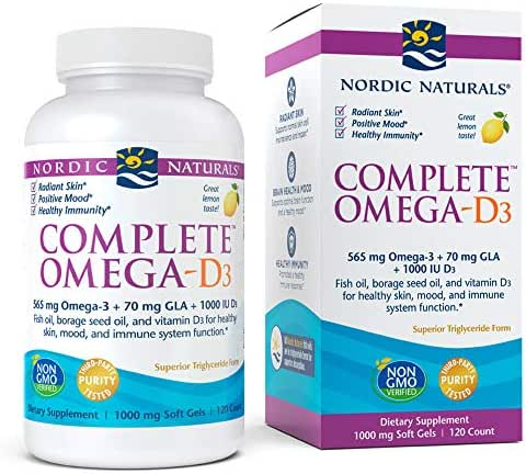 Nordic Naturals - Complete Omega-D3, Additional Bone, Mood, and Immune Support, 120 Soft Gels (FFP)