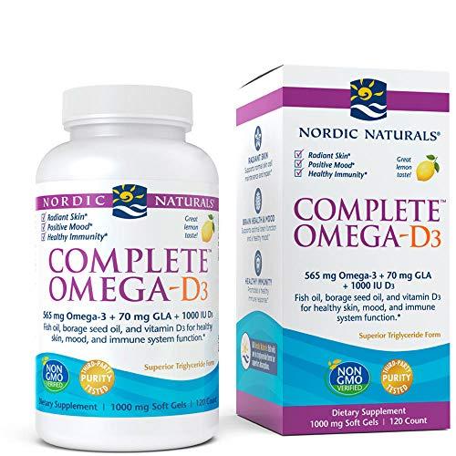 Nordic Naturals - Complete Omega-D3, Additional Bone, Mood, and Immune Support, 120 Soft Gels (FFP)