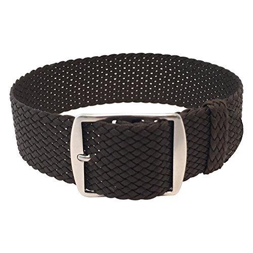 Wrist And Style Perlon Watch Strap - Dark Brown   22mm