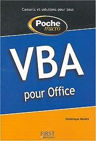 Poche Micro VBA par Dominique Maniez