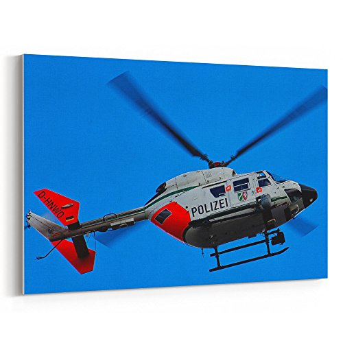 Westlake Art - Helicopter Aviation - 12x18 Canvas Print Wall Art - Canvas Stretched Gallery Wrap Modern Picture Photography Artwork - Ready to Hang 12x18 Inch (04E5-30547)