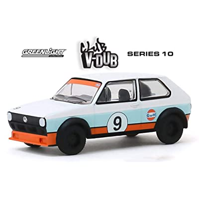 1974 Volkswagen Golf, Gulf Oil - Greenlight 29980C/48 - 1/64 Scale Diecast Model Toy Car: Toys & Games