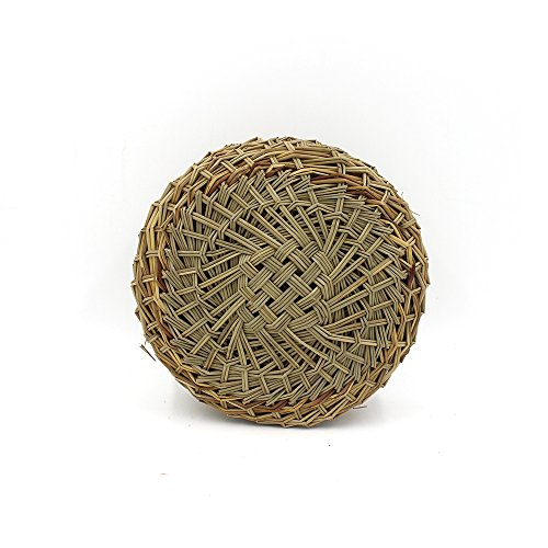 HUANGYIFU Bamboo Steamer Liners Kitchen Grass Mat Rack Steam