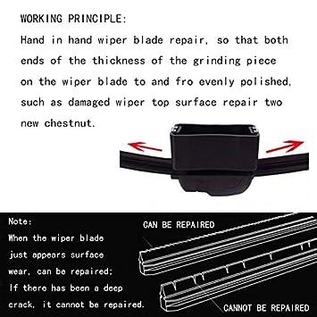 Auto Parabrisas Herramienta Reparar Limpiaparabrisas hojas refurbish Reparación, reutilizable universal Limpiaparabrisas Después de cúter circular: ...