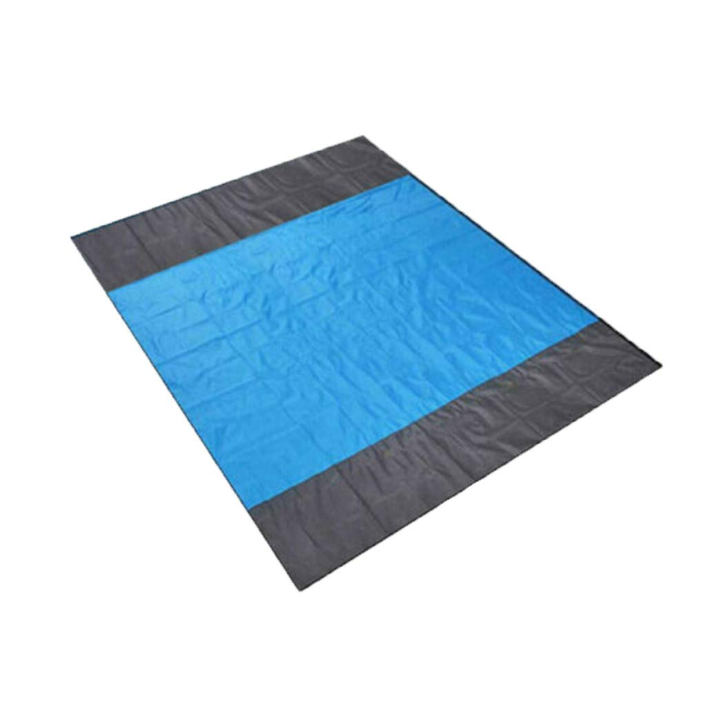 Sand Free Beach Mat Outdoor Picnic Blanket Rug Sandless Compact Waterproof Lightweight Mattress Pad- Picnic Mat for Camping,Hiking (Blue b) by BCDshop_Blanket Clearance