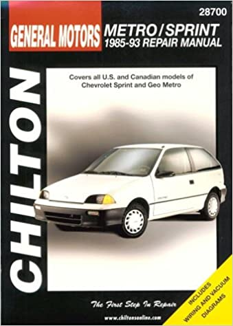 GM Metro/Sprint 1985-93 (Chiltons Total Car Care Repair Manual) Paperback – January 20, 1993