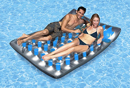 (Poolmaster Double French Pocket Swimming Pool Mattress Float Lounge)