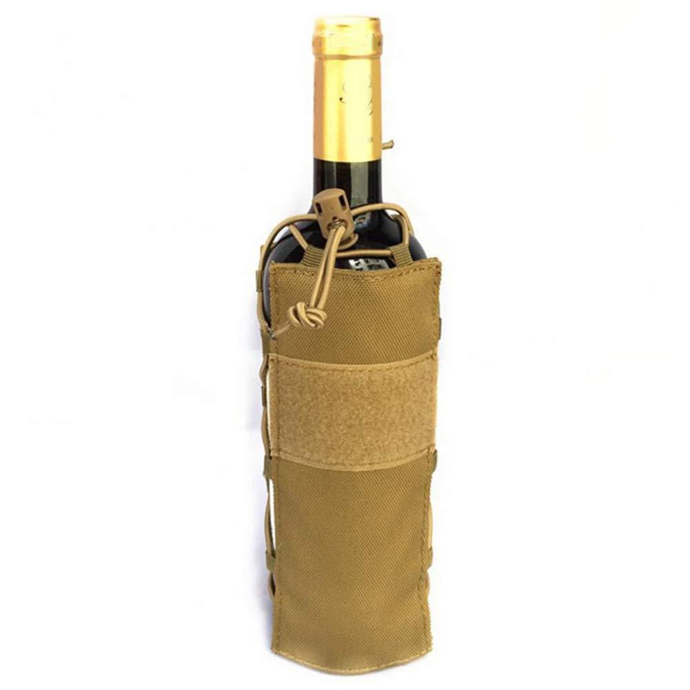 REFURBISHHOUSE Portabotellas T/áctico Estuche para Botellas de Agua Nylon Molle Portabotellas de Agua Durable para El Ciclismo Correr Deportes Al Aire Libre Negro