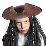 Skeleteen Faux Leather Pirate Hat - Brown
