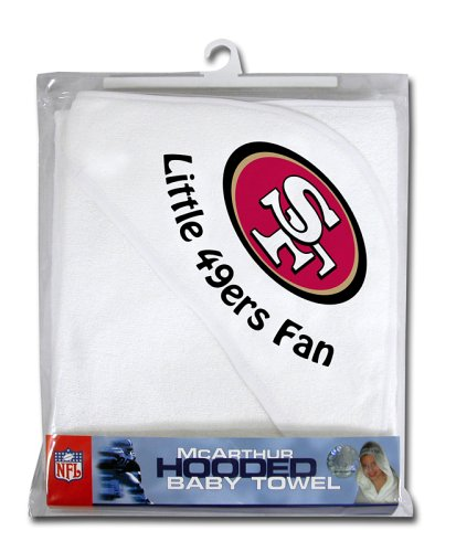 NFL San Francisco 49ers White Hooded Baby Towel