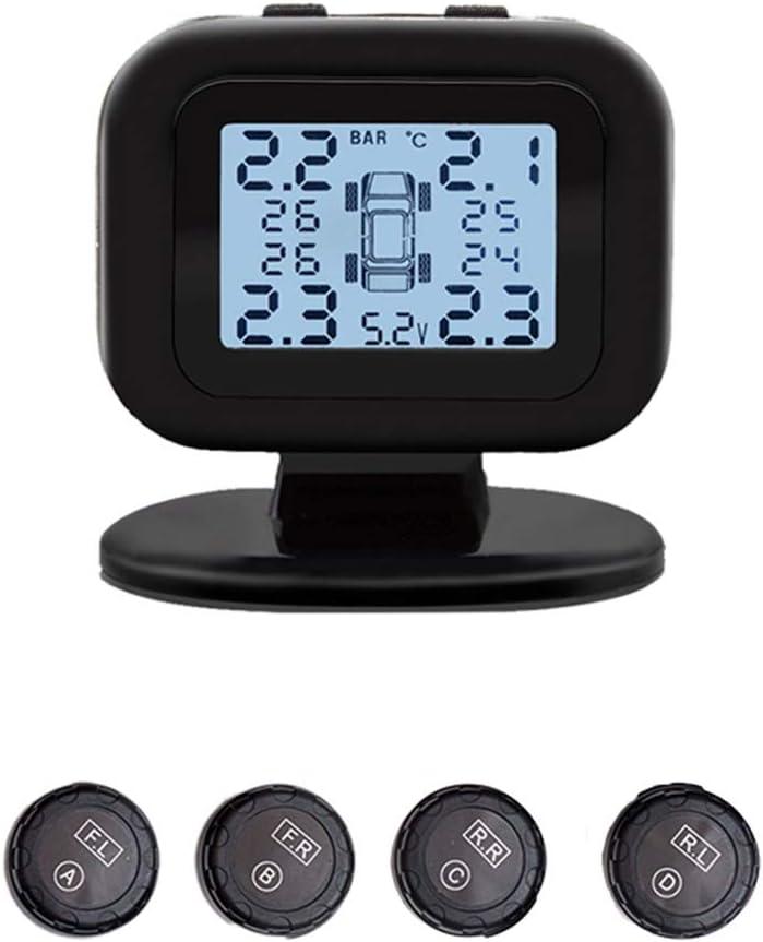 Sistema de monitoreo de presi/ón de neum/áticos C-120 Sensor externo TPMS Sistema autom/ático de monitoreo de presi/ón de neum/áticos con pantalla LCD