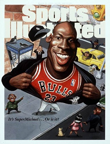 March 20, 1995 It's SuperMichael...Or Is It? Michael Jordan Sports Illustrated Cover 8x10 Photo