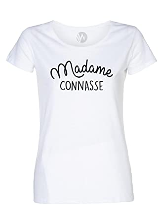 5cdb86fa3f KSS KSS KSS Femme Top T-Shirt Message Humour Madame Connasse: Amazon ...