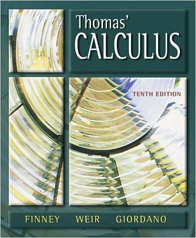 Thomas Calculus 9th Edition Book Pdf