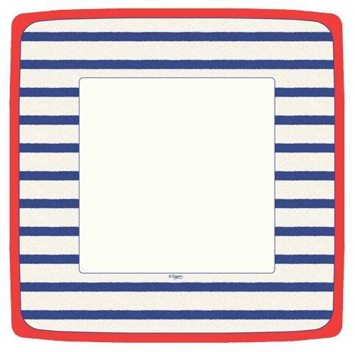 Caspari Square Dinner Plates, Bretagne Blue Pack of 16
