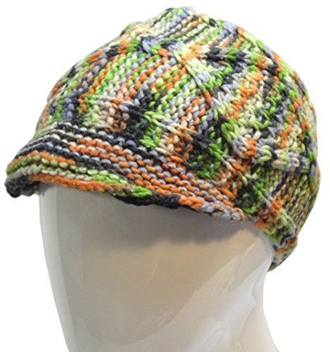 Price comparison product image Unisex 50/50 Wool Cotten Blend Hypo-allergenic Fleeced-lined Visor Hat Multi_green