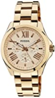 Fossil Women's AM4511 Cecile Multifunction Stainless Steel Watch - Rose Gold-Tone